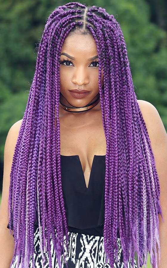 16 Purple Braided Summer Styles Hair Braiding 16 Hour