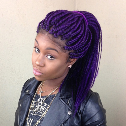 purple-box-braids-hairstyle-leather-jacket-black-woman