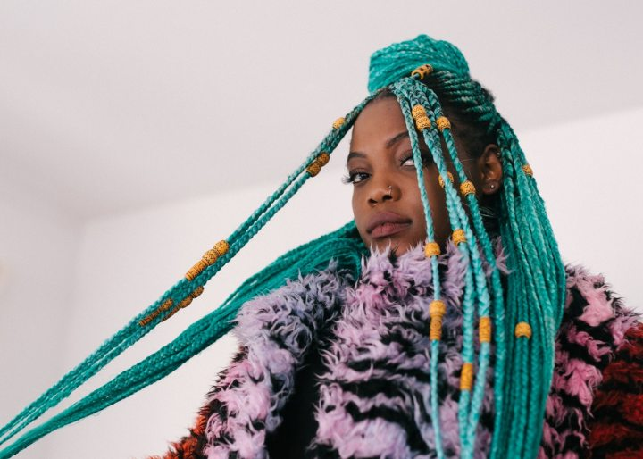 Dazzling Braids in the Color Green forSpring